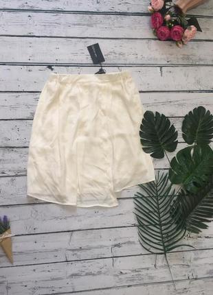 Белая юбка на запах top secret