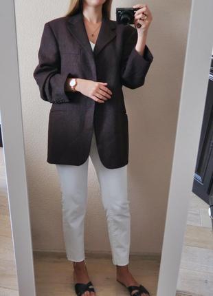 Ідеальний шерстяний блейзер бургунді/ 100% шерсть / пиджак жак...