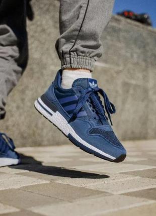 Мужские кроссовки adidas zx 500 синие