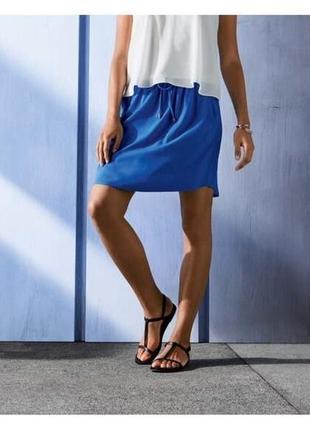 Летняя лёгкая юбка с карманами esmara германия, 100% вискоза