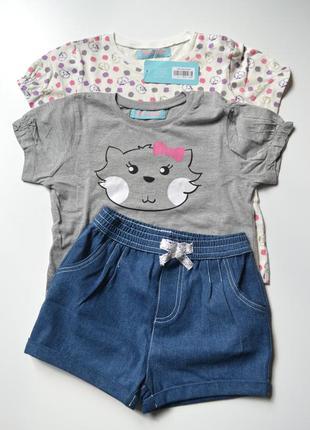 Стильний комплект шорти + футболки для дівчинки бренду blue il...
