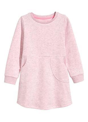 Тепле платтячко для дівчаток від h&m іспанія (92,98/104,110/116)