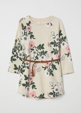 Стильне платтячко з пояском для дівчинки від h&m іспанія