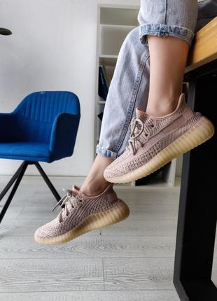 Adidas yeezy boost 350 pink рефлективные ♦ женские кроссовки ♦...
