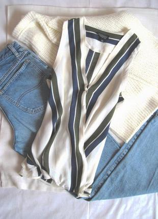 Стильный полосатый топ блуза на запах topshop #розвантажуюсь