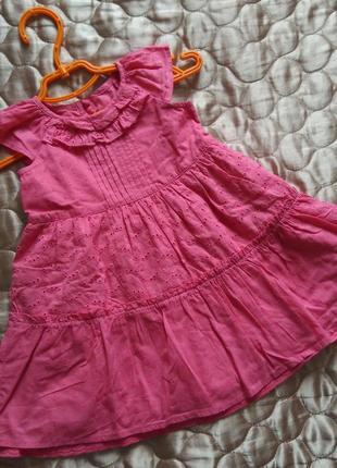 Фирменое платье сарафан 6-9 мес хлопок