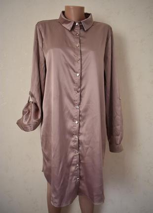 Красивое платье -рубашка большого размера new look