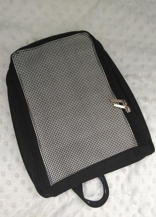 Стильный рюкзак сумка через плечо принт лапка