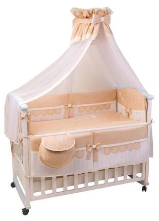 Комплект постельного белья, одеяло, подушка, защита на кроватк...