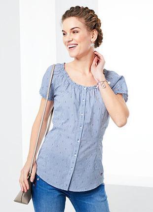 Блуза с коротким рукавом в мелкую клеточку от tchibo(германия),