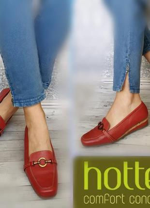 39-40р кожа новые англия  hotter кожаные  туфли лоферы мокасин...