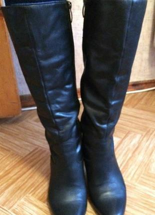 Шикарные кожаные сапоги, сапожки tаmaris 39 размер