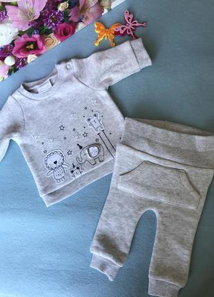 Тёплый качественный и уютный костюм для новорожденного
