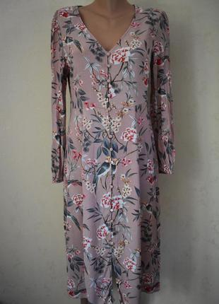 Красивое вискозное платье с принтом new look