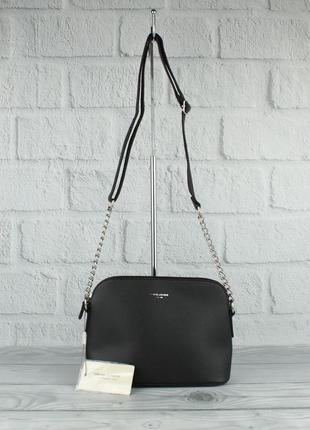 Клатч, сумочка через плечо david jones 5007 черная