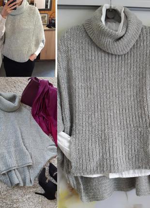 Актуальный стильный объёмный свитер оверсайз, clockhouse,  p. ...