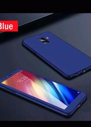 Прочный армированный, защитный, синий чехол для Samsung galaxy j3