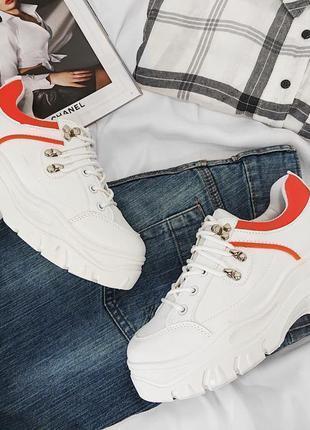 Кроссовки кеды белые