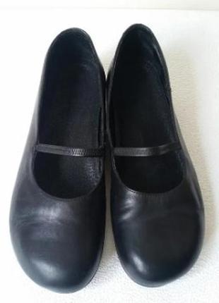 Кожаные туфли балетки мэри джейн португалия