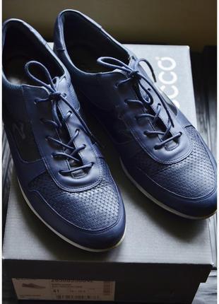 Ecco стильные кожаные туфли 40р.