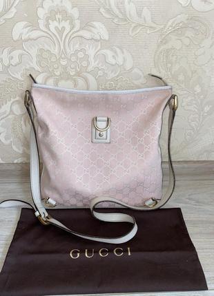 Gucci оригнал италия розовая сумка кроссбоди месенжер