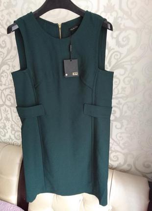 Платье  massimo dutti изумрудного цвета