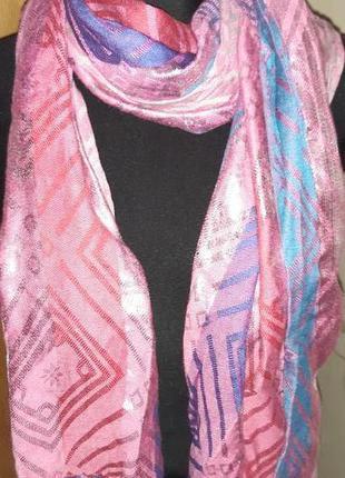 Рожевий шарф люрекс