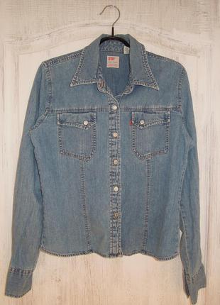 Винтажная джинсовая рубашка levis (оригинал)