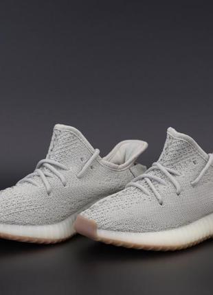 Adidas yeezy boost 350 grey 🔺 унисекс кроссовки