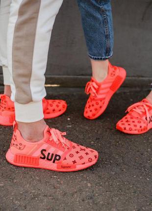 Louis vuitton x supreme x adidas nmd🔺 унисекс кроссовки
