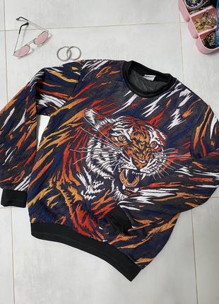Свитшот zara тигровая, кофта с тигром