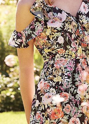 Платье миди в цветочный принт peacocks большой размер 18, 56