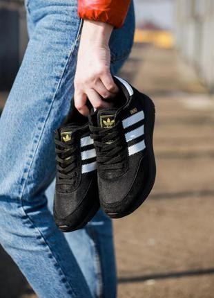 Adidas iniki runner triple black🔺женские  кроссовки