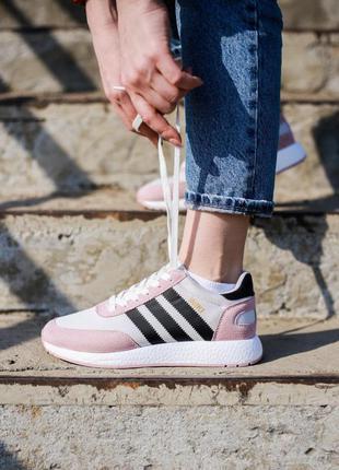 Adidas iniki runner pink core black/white🔺женские  кроссовки