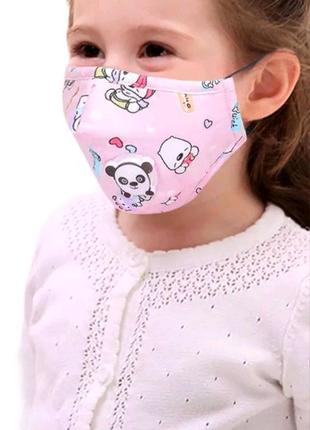 Детская маска, многоразовая маска, повязка