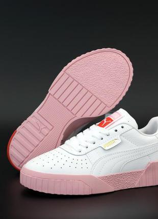 Puma cali white pink ♦ женские кроссовки ♦ весна лето осень