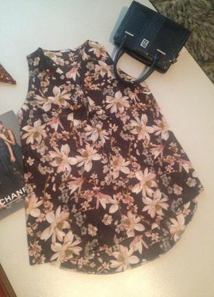 Легкая удлиненная блузочка в принт.02