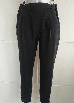 Стильные брюки marks& spencer черного цвета с молниями