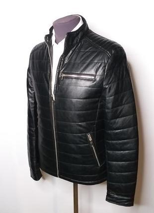 Куртка кожанка мужская демисезонная
