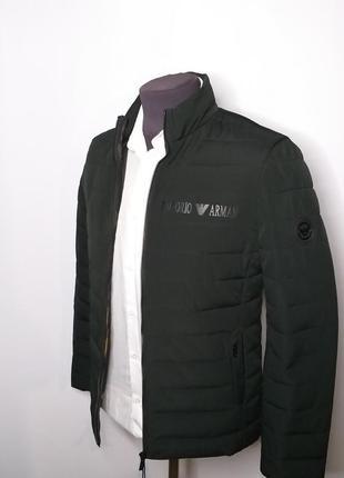 Куртка мужская демисезонная зелёная imperio armani