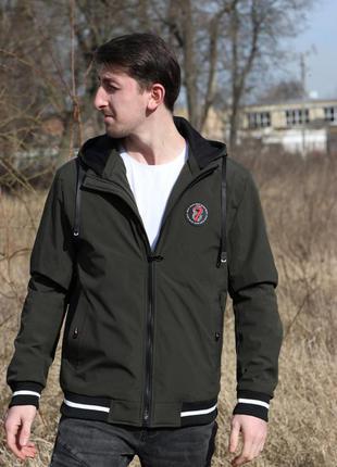Куртка мужская на весну хаки