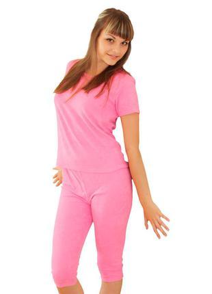 Комплект,футболка и велосипедки, пижама,хлопок,от fabiani