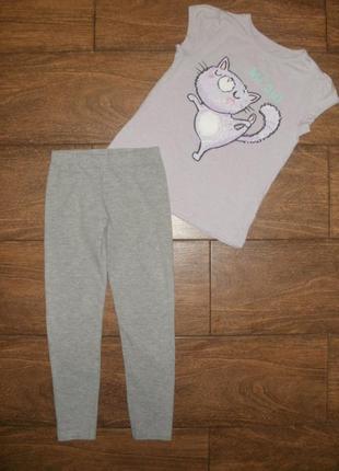 Набор george / primark на 6-7 лет , футболка с лосинами