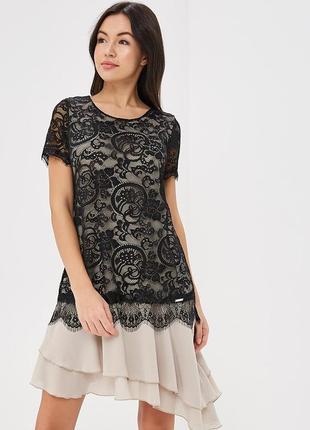 Новая коллекция из италии платье с гипюром