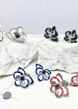 Набор серебро 925 серьги и кольцо 2284