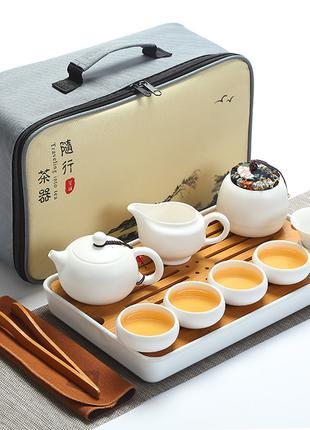 Чайный набор Гунфу Ча дорожный из 12 предметов