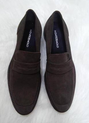 Натуральные замшевые туфли италия