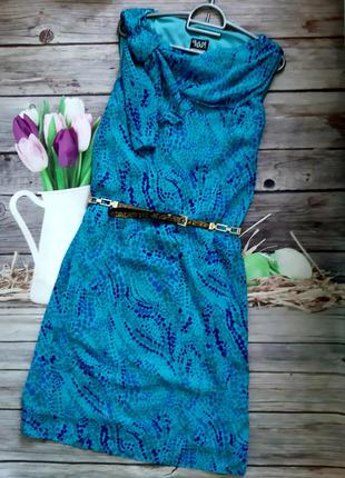 Стильное яркое платье футляр шифоновое