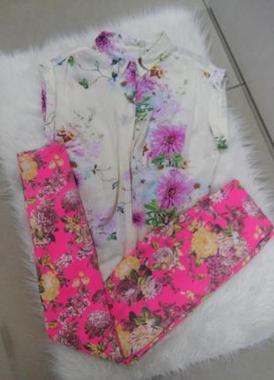 Цветочные брюки в размере хс