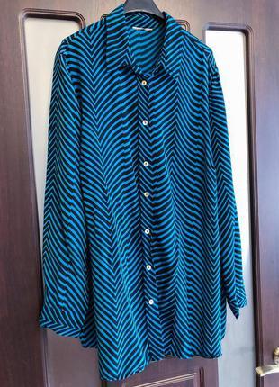 Вискоза. шикарная рубашка в крутой принт next